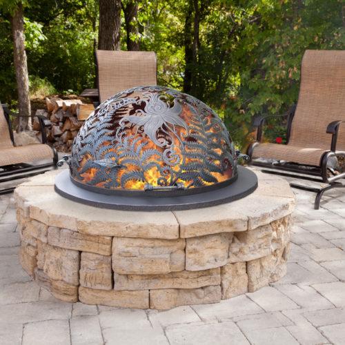 Купол для очага Огненный цветок папоротника
