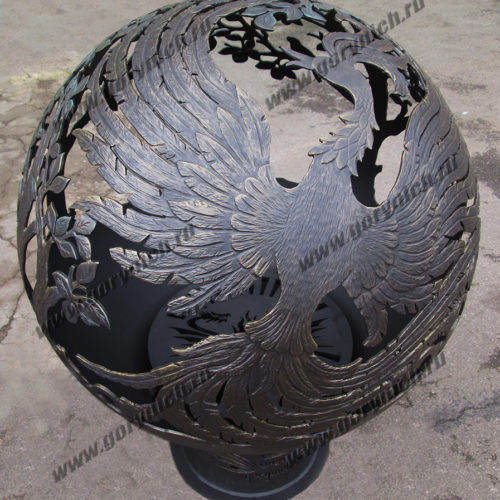 Сфера для костра Жар птица в райском саду